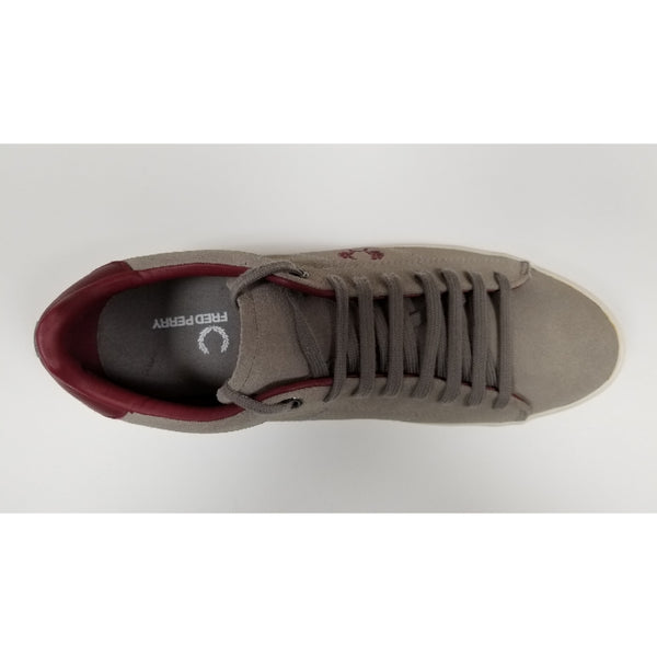 Fred Perry Howell Suede, Grey, Aerial View