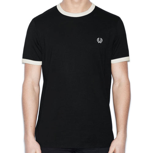 Fred Perry Ringer T-Shirt Black