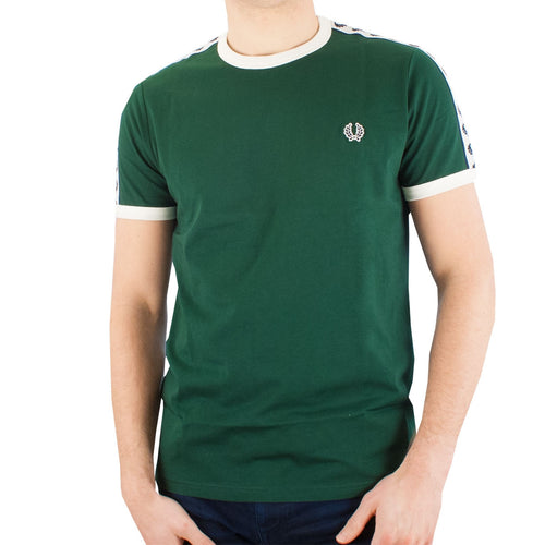 Fred Perry Ringer T-Shirt, Ivy Green