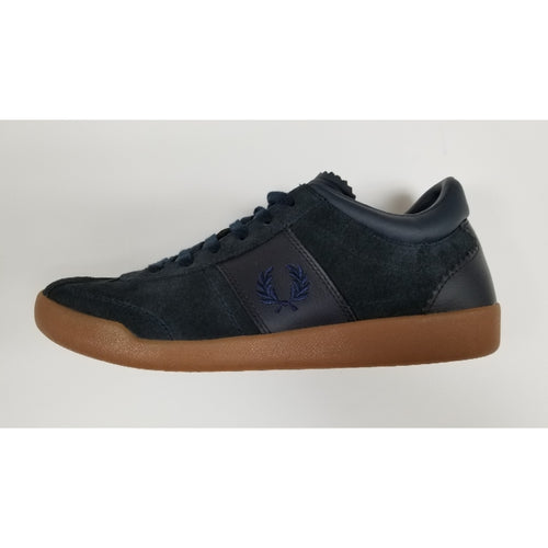 Fred Perry Stockport Suede, Navy, Side View