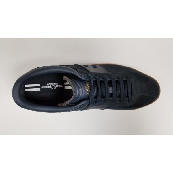 Fred Perry Stockport Suede, Navy, Aerial View