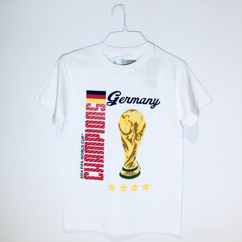 Germany World Cup Champions T-Shirt, White