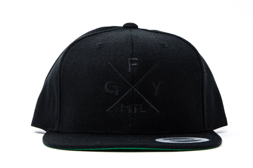 GFY Alternate Cap, Black/Black, Front