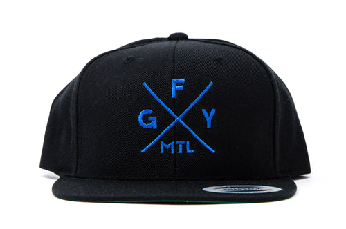GFY Alternate Cap, Black & Royal, Front