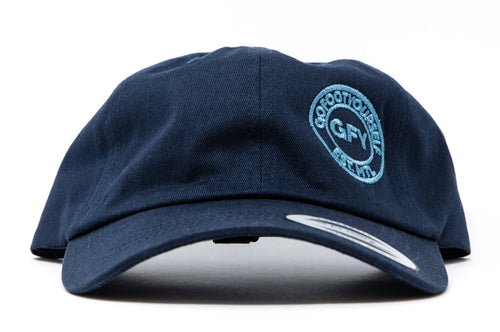 GFY Dad Cap Off-Set - Navy/Blue