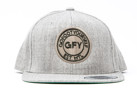 GFY Alternate Logo Pull Over - Dark Heather
