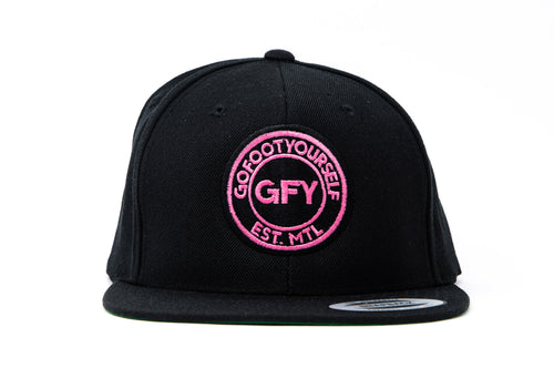 GFY Youth Classic Cap - Black/Pink
