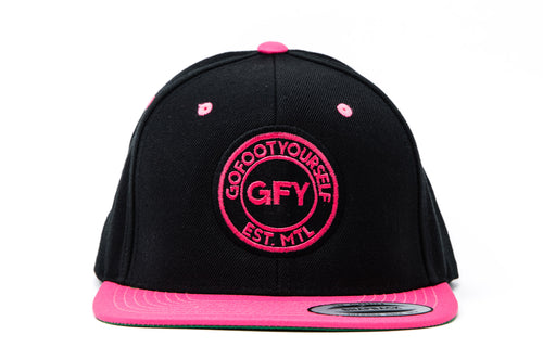 GFY Classic Cap, Neon Pink, Front