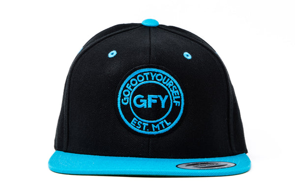 GFY Classic Cap, Neon Teal, Front