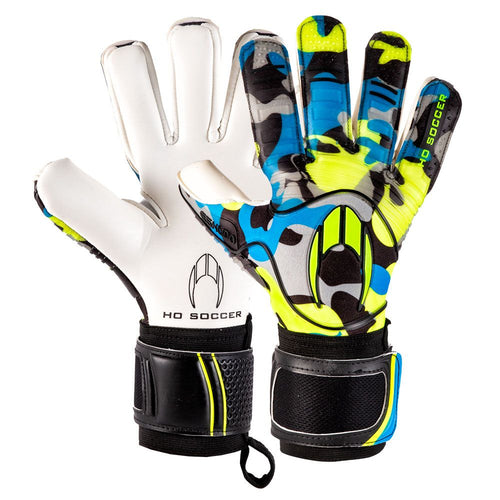 HO Eskudo Action Negative Goalkeeper Gloves, Blue, Negative Cut