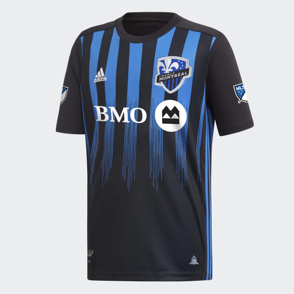Adidas Montreal Impact Home Authentic Soccer Jersey '19, Black & Blue