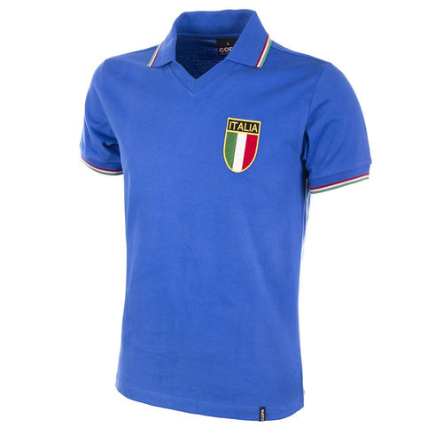 COPA Football Italy World Cup '82 Short Sleeve Blue Shirt