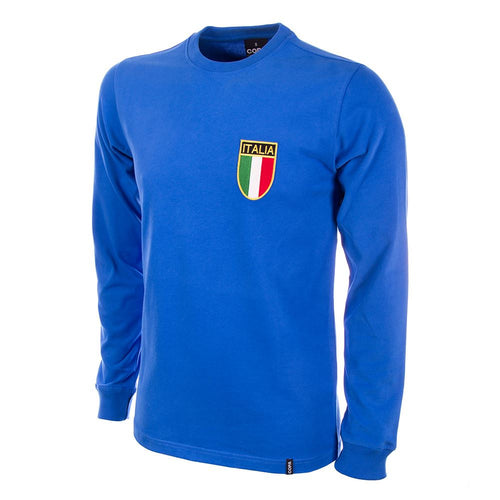 COPA Football Italy 1970 Long Sleeve Blue Shirt