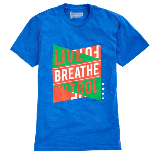 LBF Cup Winners T-Shirt, Short Sleeve, Blue & Red