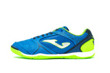 Joma Dribling Indoor Soccer Futsal Shoe, Royal, Synthetic Upper, Rubber Soleplate, Side View