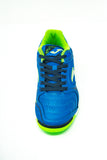Joma Dribling Indoor Soccer Futsal Shoe, Royal, Synthetic Upper, Rubber Soleplate, Aerial View