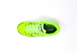 Joma Liga 5 Indoor Soccer Futsal Shoe, Fluo, Synthetic Upper, Rubber Soleplate, Aerial View