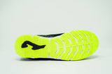 Joma Mundial Indoor Soccer Futsal Shoe, Black & Fluo, Leather Upper, Rubber Soleplate, Outsole View