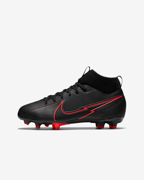 Kids Nike Mercurial Superfly 7 Academy FG Soccer Cleat - Black