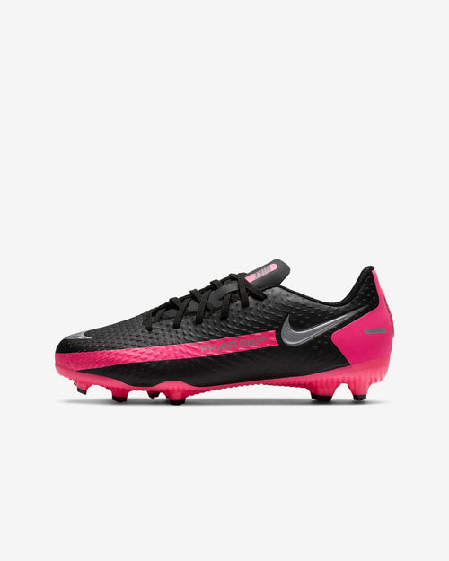 Kids Nike Phantom GT Academy FG Soccer Cleats - Black/Pink