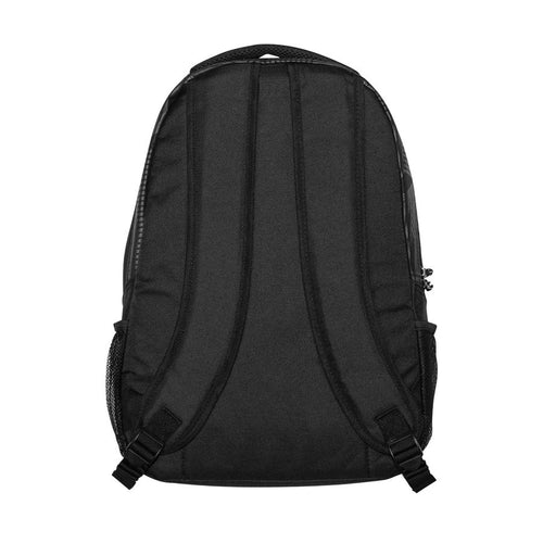 Juventus Pattern Backpack, Black, Back View