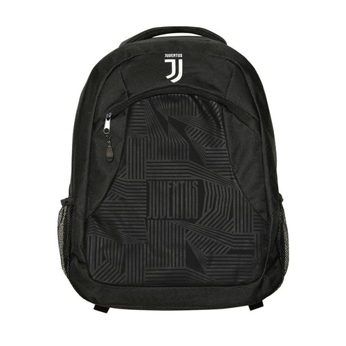 Juventus Pattern Backpack, Black, Front View