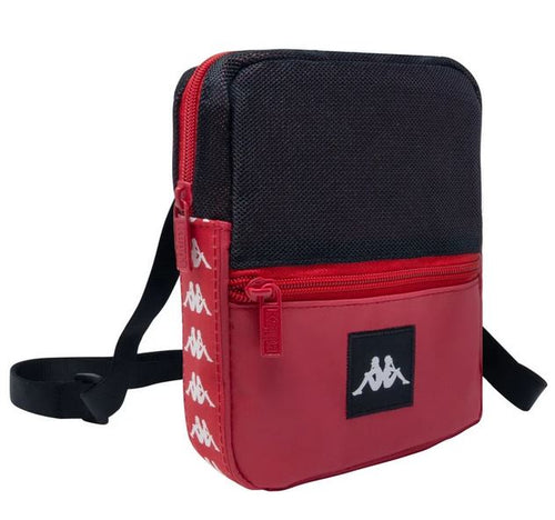 Kappa Shoulder Bag, Red & Black, Adult Size