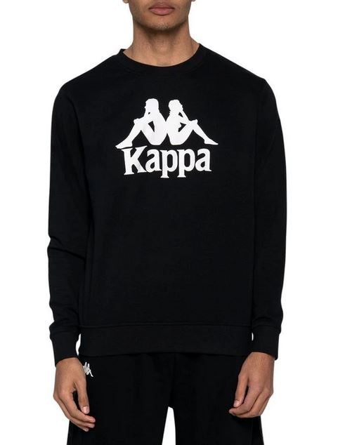 Kappa Slim Fit Sweatshirt, Black, Adult Size