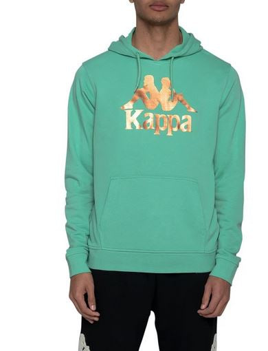 Kappa Slim Fit Hoody, Green, Adult