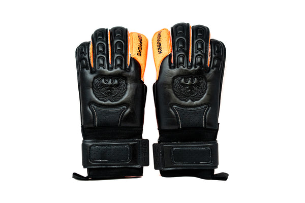 Keepaere Boss Quartz Goalkeeper Gloves, Orange, Roll-Finger Cut
