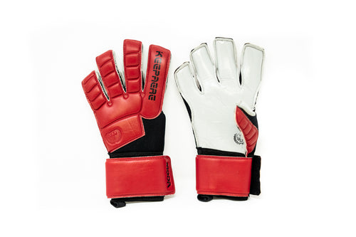 Keepaere Campo Moda Goalkeeper Gloves, Maroon, Roll-Finger & Flat Cut