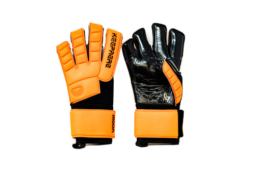 Keepaere Campo Moda Goalkeeper Gloves, Orange, Roll-Finger & Flat Cut