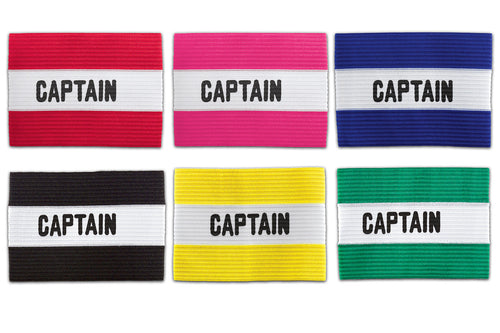KwikGoal Captain Arm Band In Red, Pink, Blue, Black, Yellow and Green