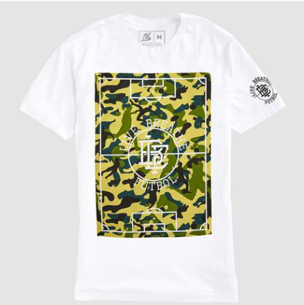 LBF Pitch Camo T-Shirt, Short Sleeve, White