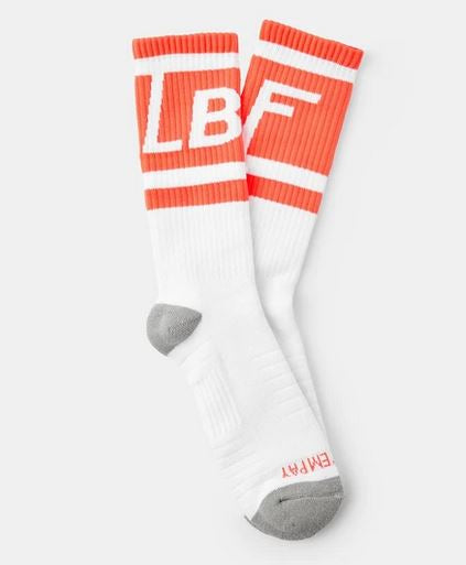 LBF Box Logo Sox, White & Orange