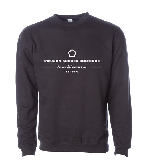 Passion Soccer Crewneck Sweater - Black