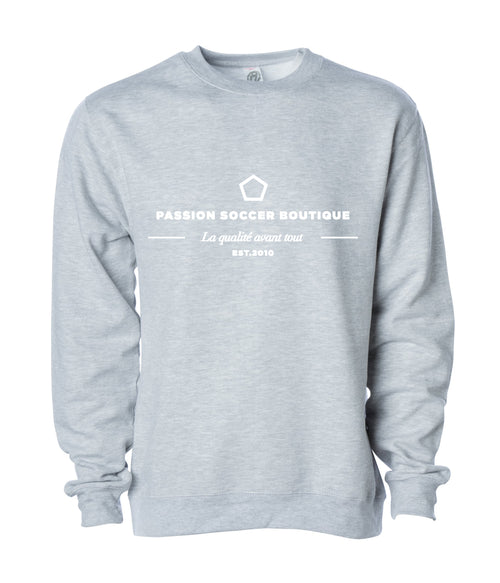 Passion Soccer Crewneck Sweater - Grey