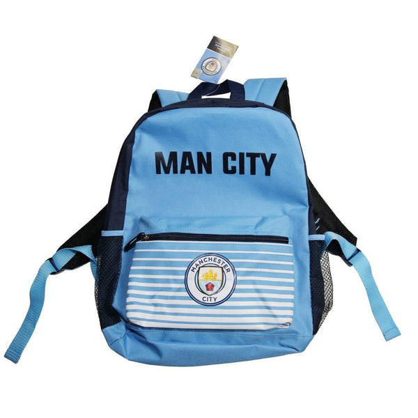 Manchester City Club Home Backpack, Sky Blue, Front View