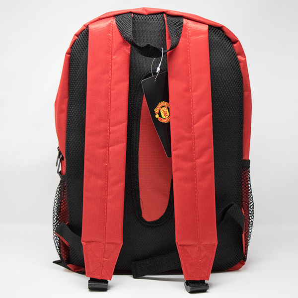 Manchester United Club Backpack, Red & Black, Back