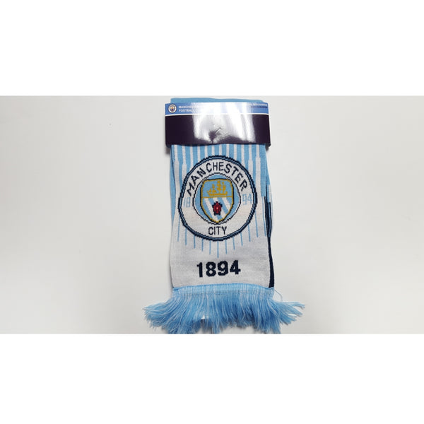 Manchester City Sky Blue & White Club Scarf '17