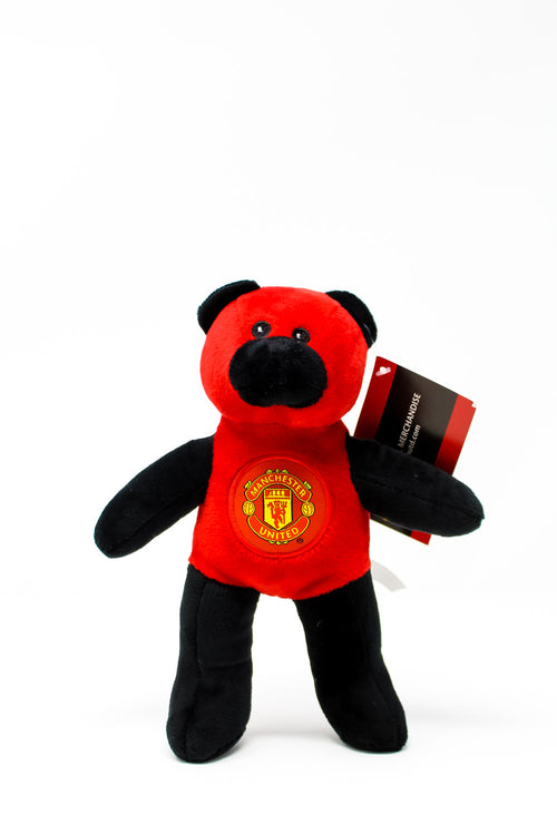 Manchester United Red & Black Plush Beanie Bear
