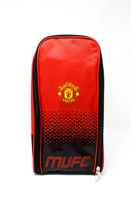 Manchester United Red & Black Boot Bag, Front
