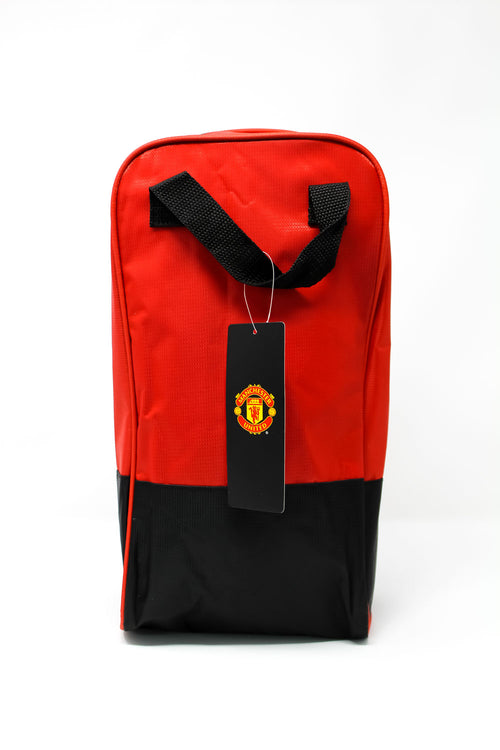 Manchester United Red & Black Boot Bag, Back