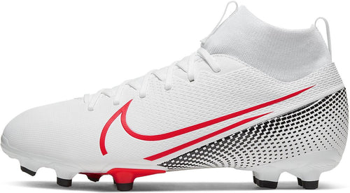 Kids Nike Mercurial Superfly 7 Academy FG Soccer Cleat - White/Red