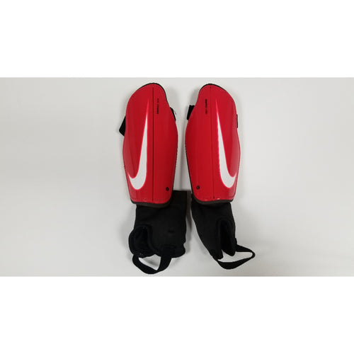 Nike Charge Youth Shin Guards, Red & Black, Front View