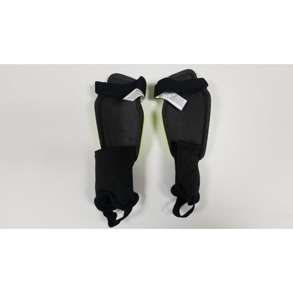Nike Charge Youth Shin Guards, Volt & Black, Back View