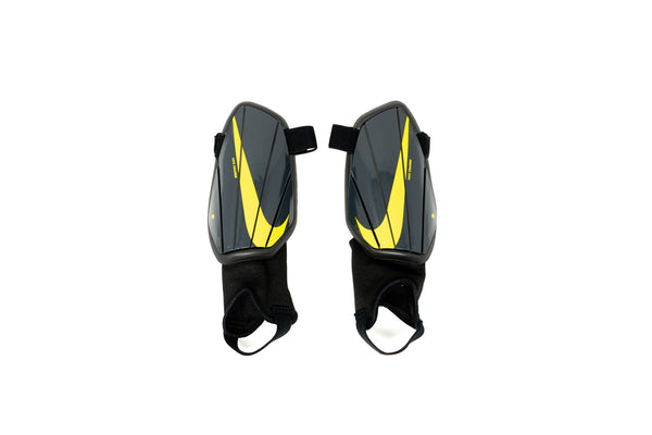 Nike Charge Youth Shin Guards, Charcoal & Yellow