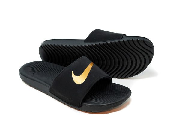 Nike Youth Kawa Slide, Black & Gold