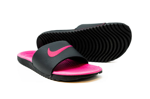 Nike Youth Kawa Slide GS, Black & Pink