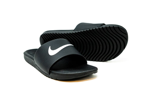Nike Youth Kawa Slide, Black & White
